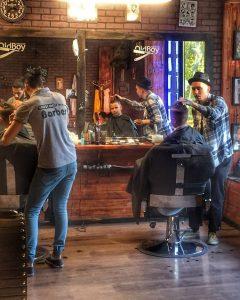 Интерьер Oldboy Barbershop